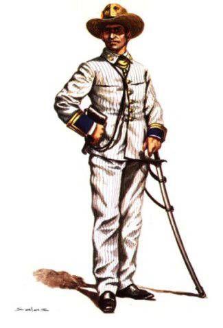 OFICIAL DE ARTILLERIA DE VOLUNTARIOS DE CUBA - 1892