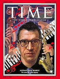 Dave Brubeck, born in Concord, California, died one day short of his 92nd birthday (12-6-1920--12-5-2012) Thanks for decades of great music, including 1959's Take Five, the first jazz single to go Gold from Time Out, which went Platinum.