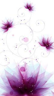 【286位】紫色の花のデジタルアート|おすすめスマホ壁紙
