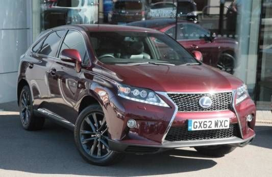 Used 2012 (62 reg) Burgundy Red Metallic Lexus RX 3.5 F Sport for sale on RAC Cars