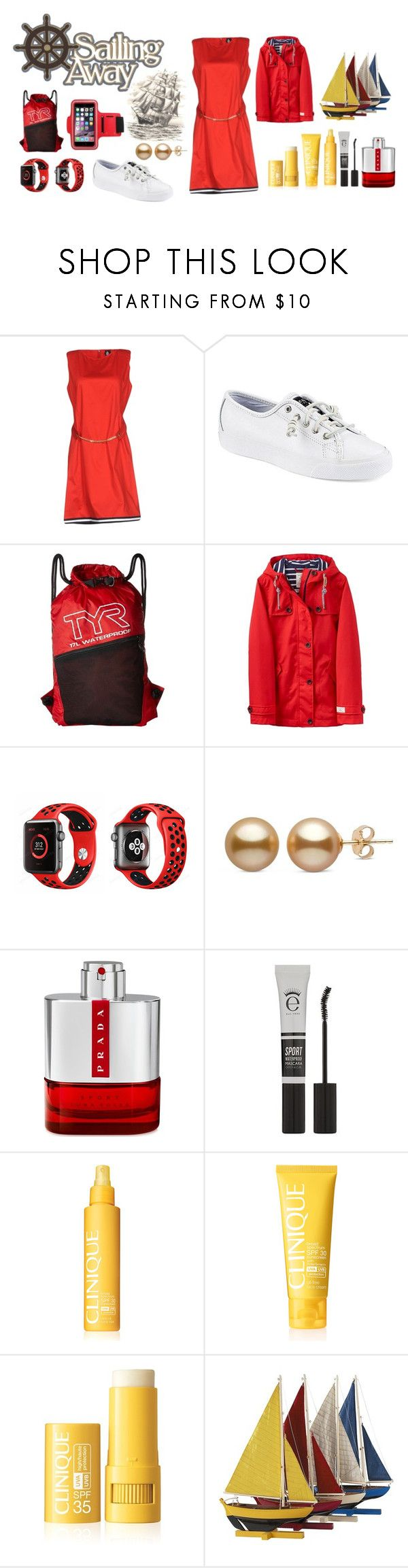 """""""№ 45"""" by katerinakozlova ❤ liked on Polyvore featuring Marina Yachting, Sperry, TYR, Joules, Apple, Prada, Eyeko, Clinique and Authentic Models"""
