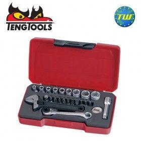 """Teng 23pc 1/4"""" Drive Socket & Wrench Set T1423"""