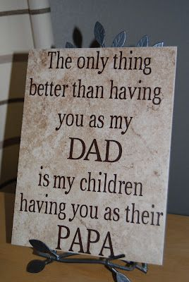 LOVE this sign!  Can be applied to many different family relationships too....
