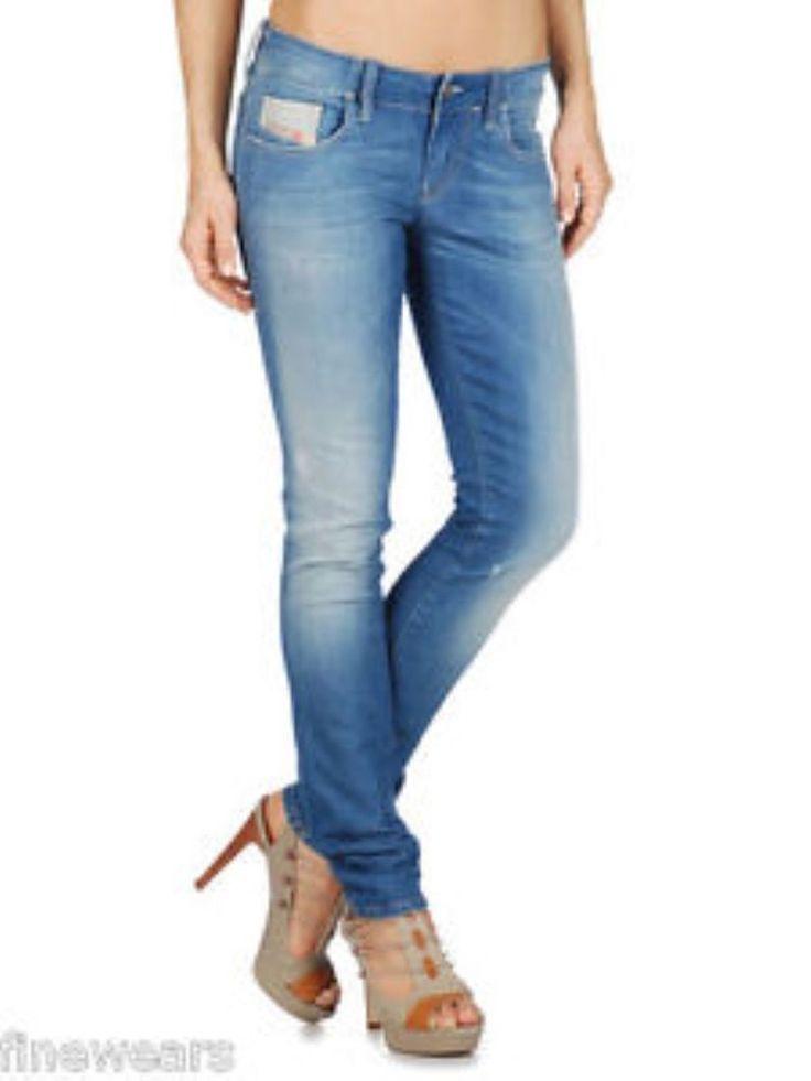 Womens Diesel Jeans Grupee 069S Super Slim Skinny Ladies New Authentic
