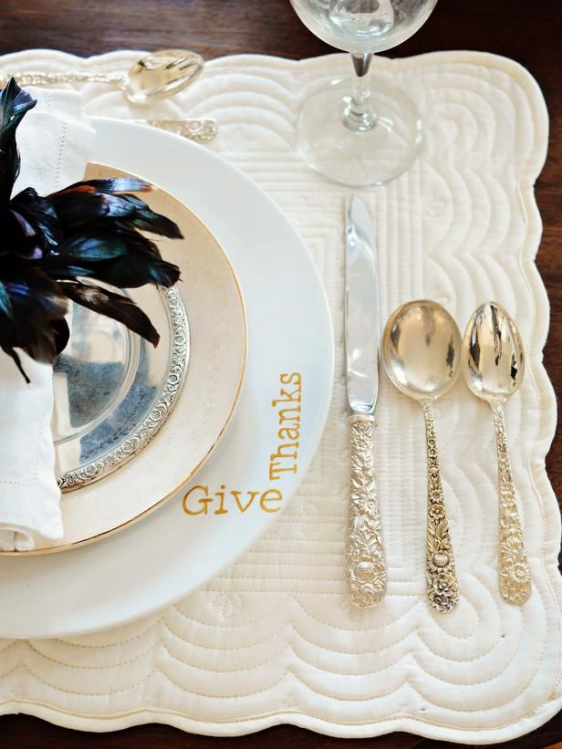 Dress up plain white plates for Thanksgiving>> http://www.hgtv.com/entertaining/how-to-make-hand-painted-plates/index.html?soc=pinterest