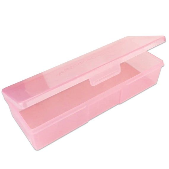3pcs Large Plastic Manicurists Personal Box Storage Case Container Pink
