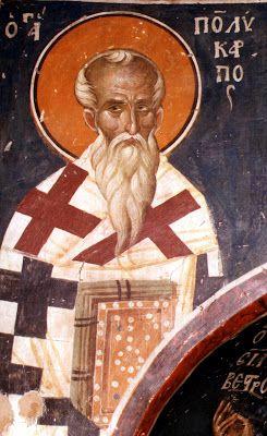ANNE RANSON-TERESTCHENKO, dite Presbytera Anna: Icônes de Saint Polycarpe de Smyrne, Evêque, Hiéromartyr. (II°s).