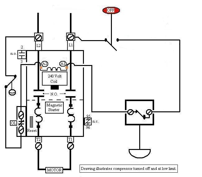 Image result for simple motor contactor with push button