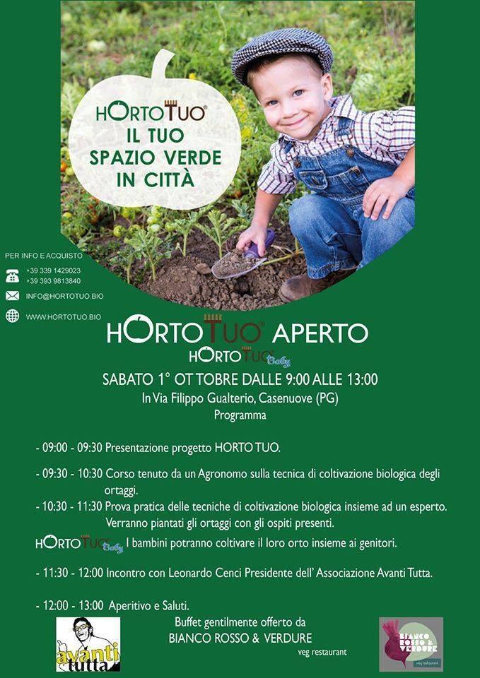A Perugia HortoTuo: l'orto biologico aperto per grandi e piccoli