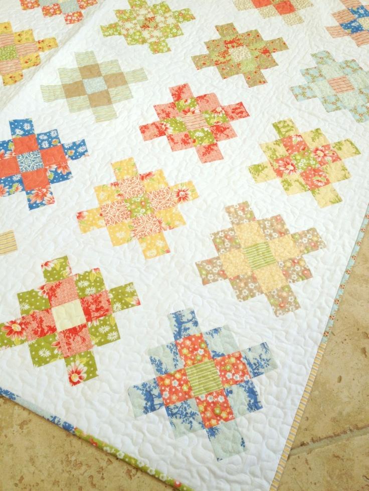 Granny Squares Quilt, tutorial
