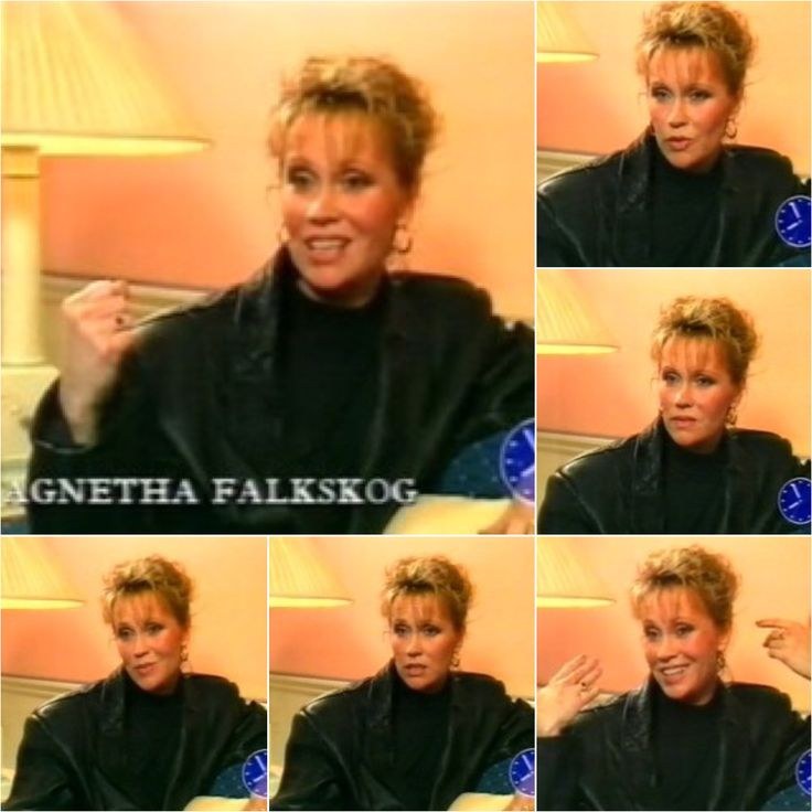 1988 Agnetha appeared on the BBC's Breakfast Show.