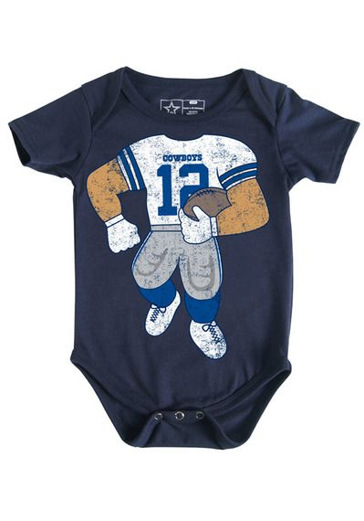 Dal Cowboys Nvy Nb Lil Player Bodysuit