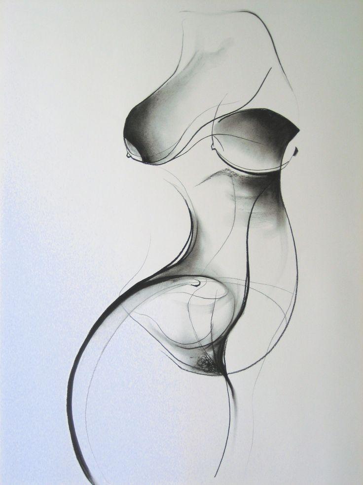 'Violin', charcoal on paper, 81cm x 57cm (c)Carmel Jenkin. More info about me & my art at http://carmeljenkin.com