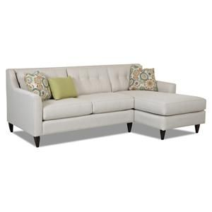 Klaussner Chazy Contemporary 2 Piece Sectional Sofa   K72500L LS+R CHASE Beverly  Hall