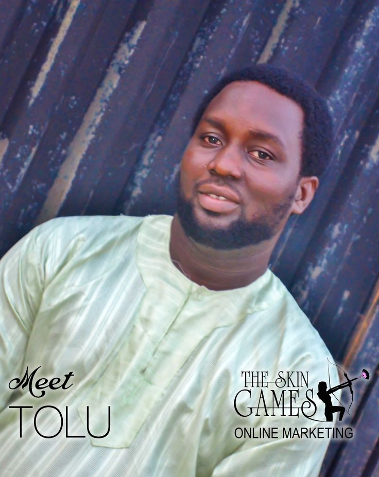 Meet our new Skin Games team member  Tolu, He is our new super hero that flies all over the web looking to build credible and long lasting relationships. Did you know that we just found out that Tolu just asked asked the love of his life to marry him and she said YES! & they are getting married next year!!! Yaahoooo!!! Let's give a shout out  to Tolu! I know you will love him as much as we do!!!