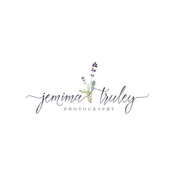 Logotipo de lavanda - manuscrito acuarela Premade fotografía logotipo y diseño de marca de agua - fotografía o Logo de Boutique - negocio Branding