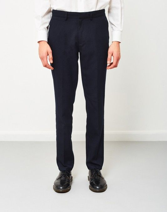 NEW IN | Farah Denby Rigid Hopsack Trousers Navy | Shop now at The Idle Man | #StyleMadeEasy