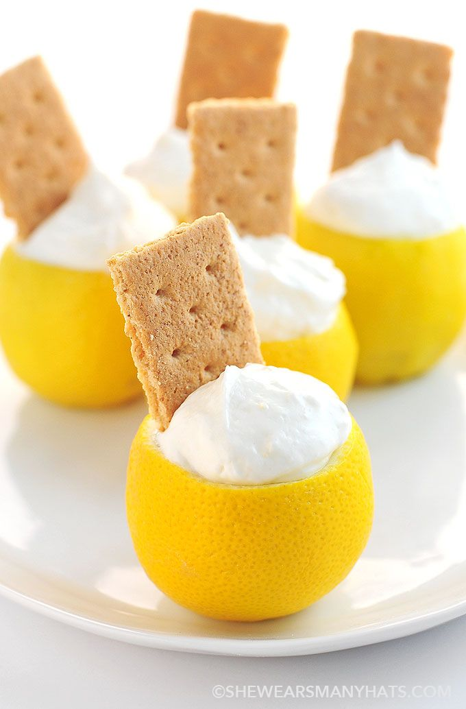 Lemon Cream Pie Dip -See other pin for instructions on how to make the cups