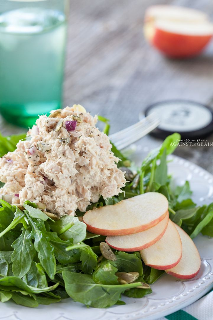 Tuna Salad w/Apples and Pumpkin Seeds - Danielle Walker's Against All Grain