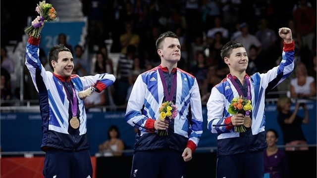 Brits Will Bayley, Aaron Mckibbin and Ross Wilson take the table tennis team bronze