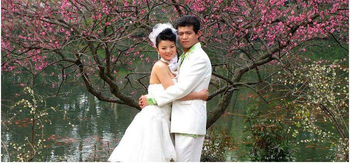 Праздник бракосочетания на природе в Китае