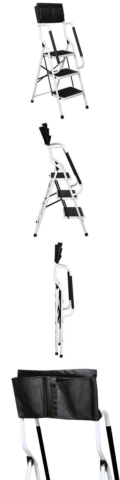 Ladders 112567: Folding 3-Step Safety Ladder - Padded Side Handrails - With Tool Pouch Caddy -> BUY IT NOW ONLY: $74.99 on eBay!