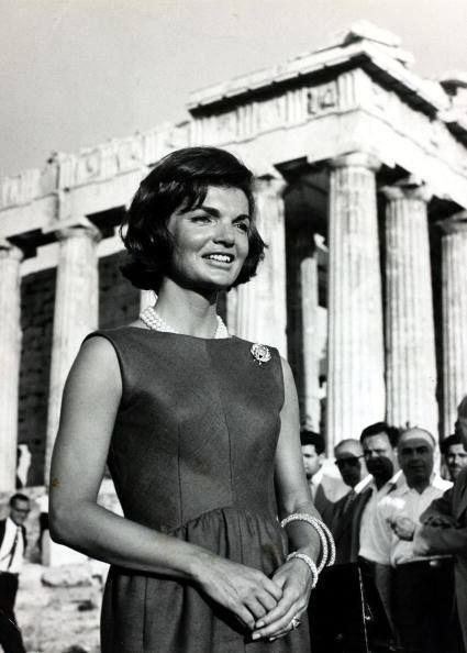 Jackie Kennedy visits the Parthenon in 1961 www.ploosdesign.com
