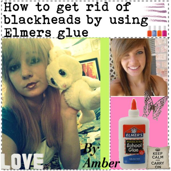 how to use glue to get rid of blackheads