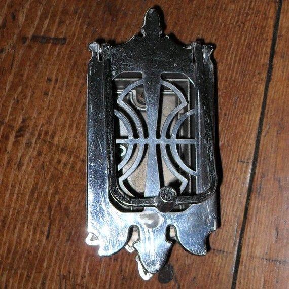 Vintage Art Deco Chrome Door Peep Knocker