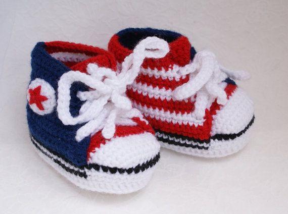 Детские пинетки вязаные Детские пинетки патриотический американский флаг Конверс детская обувь 4 июля н красный белый синий США Отечественная обувь /0-6 месяц