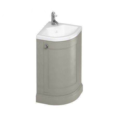 Vanity Units | Burlington Freestanding cloakroom Vanity Unit with Door - Olive