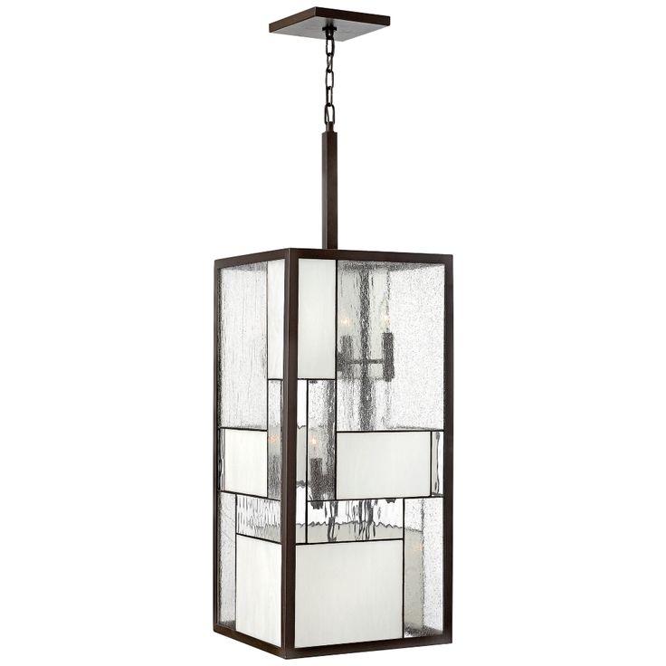 """Hinkley Mondrian 12-Light 42"""" High Bronze Pendant Light - Style # V3854"""