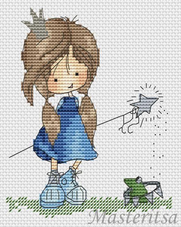 Sweet little girl... Gallery.ru / Фото #3 - Обучение созданию схем для вышивки крестом - parad-vishivky