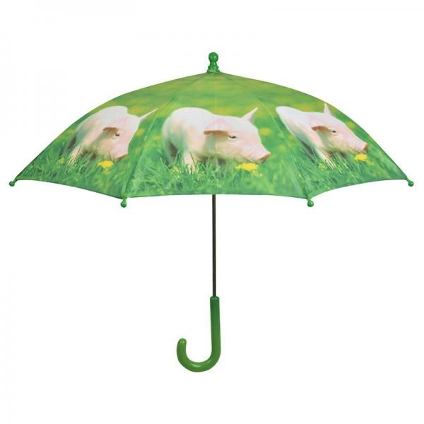 Egy farmos kisállat mintás esernyőnek bármelyik gyerek örülne.Az esernyő tetején és oldalán műanyag gombok találhatók, melyek megvédik a gyerekeket az esetleges balesetektől.