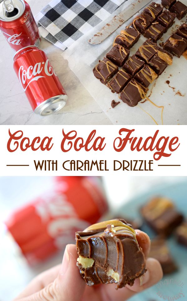 #AD Making delicious treats is one of my favorite traditions during the holiday season. See how I'm continuing that tradition with my own kids. Click the link for the recipe on making this delicious Coca Cola Fudge with Caramel Drizzle. #CocaColaHoliday @samsclub