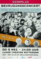Beschrijving:Aankondiging van het concert Die goeie ouwe radio, in het Luxor Theater ter gelegenheid van Bevrijdingsdag. Op het affiche portretten van Annie de Reuver en andere artiesten.  Datering:5/5/2005