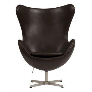 Кресло Egg Dark Brown (Эгг темно-коричневое)