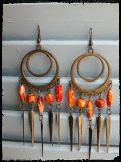 Zoe - scarves: orange ethnic