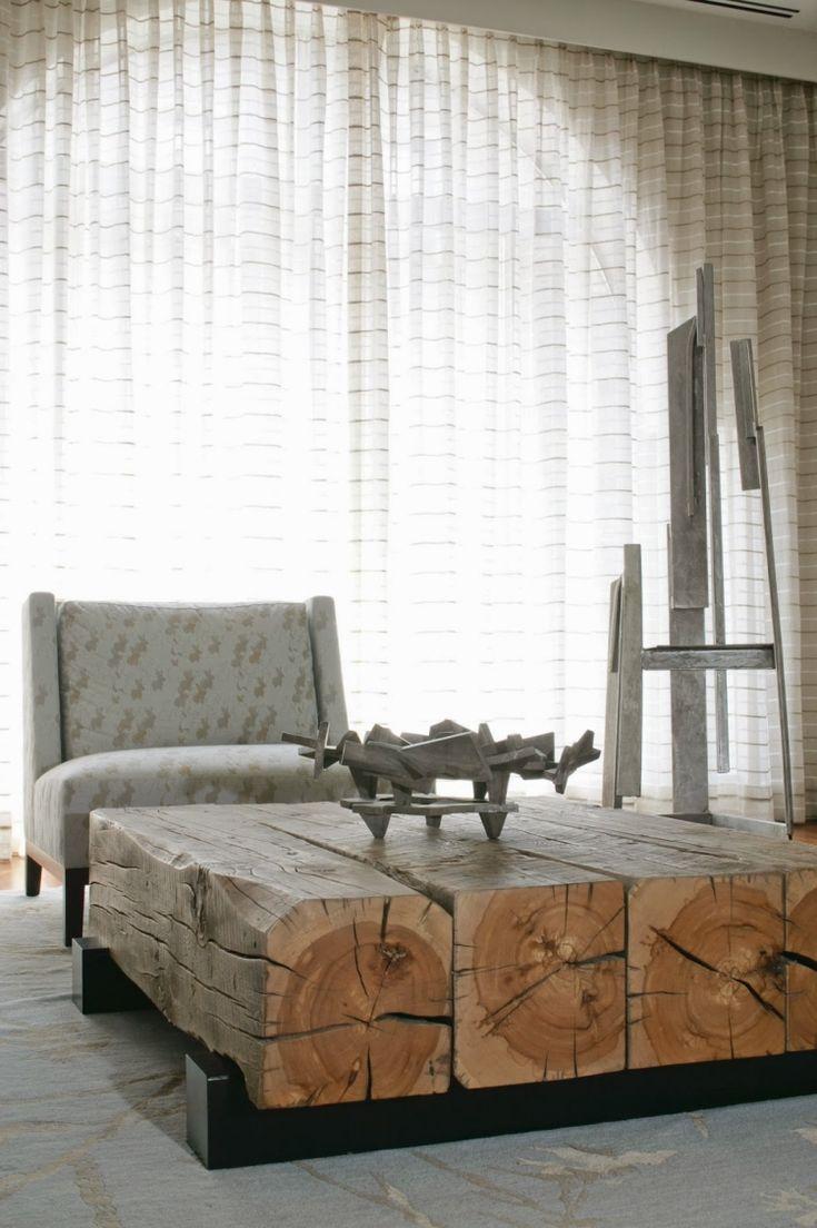Couchtische aus Massivholz im Wohnzimmer – 50 aktuelle Ideen