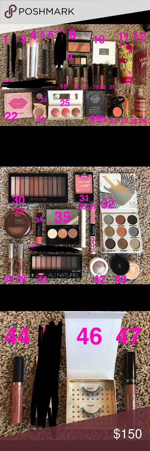 50+ item makeup lot high end and drugstore brands. most