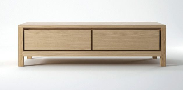 SOLID TV CHEST - OAK