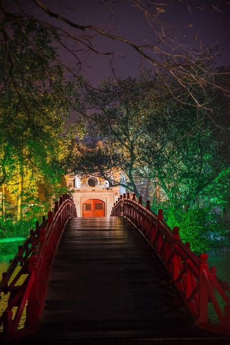 Entrance to the Ngoc Son Temple, Hoan Kiem Lake, Hanoi