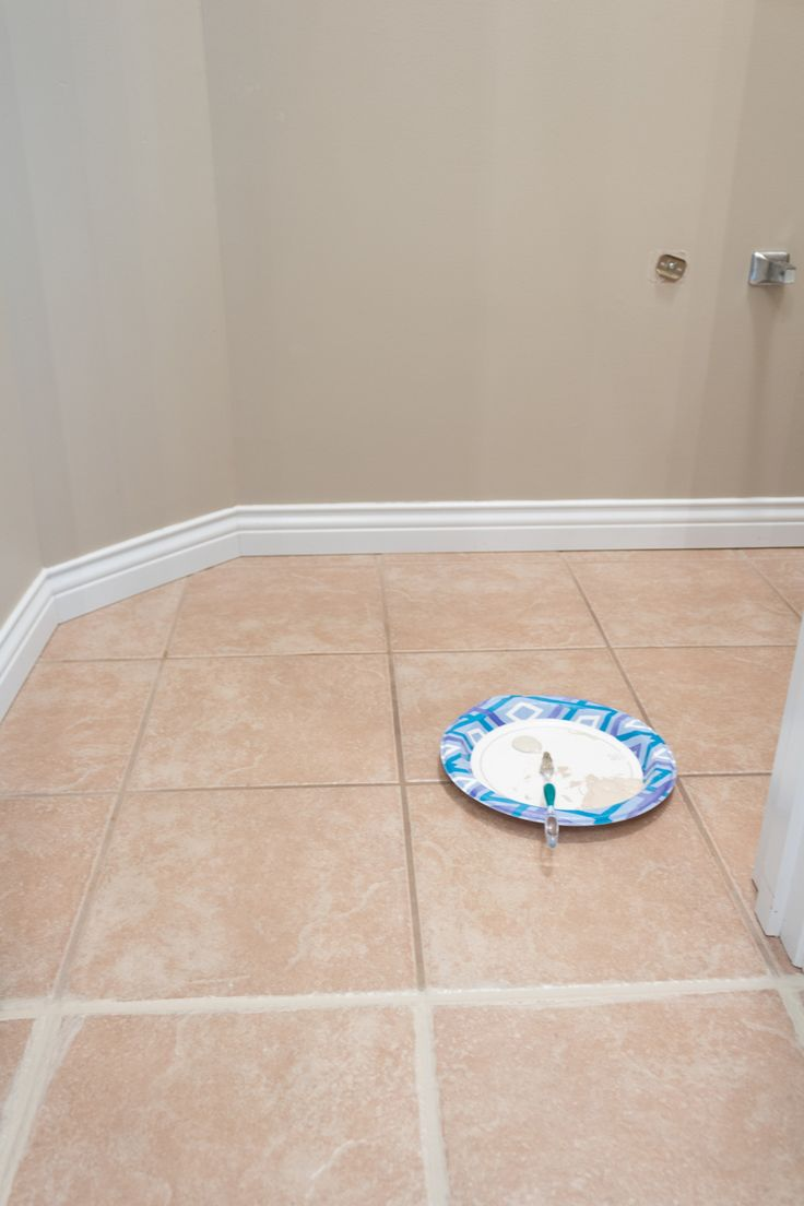 Grout paint before and after easy tile transformation in