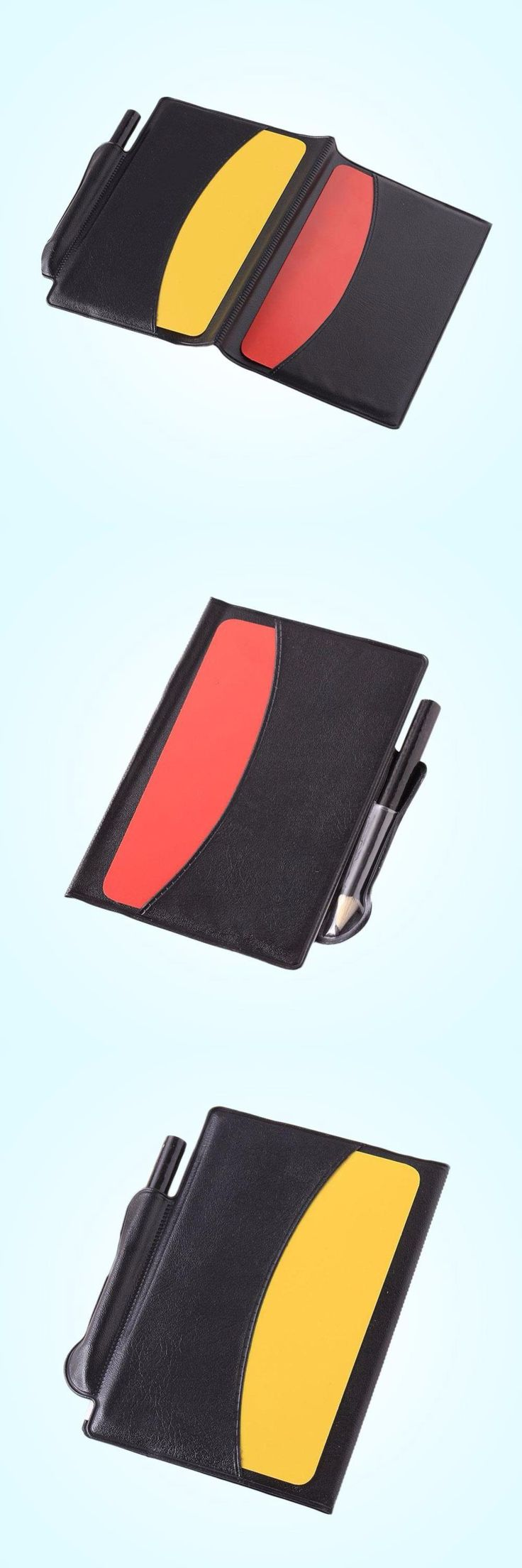 [Visit to Buy] Football Referee Red Card Yellow Card Judge Case Soccer Wallet Pencil Notebook Set Professional Supplies equipment #Advertisement