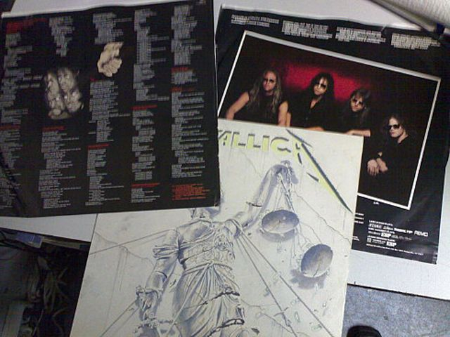 El arte del disco de Metallica ...And Justice for All