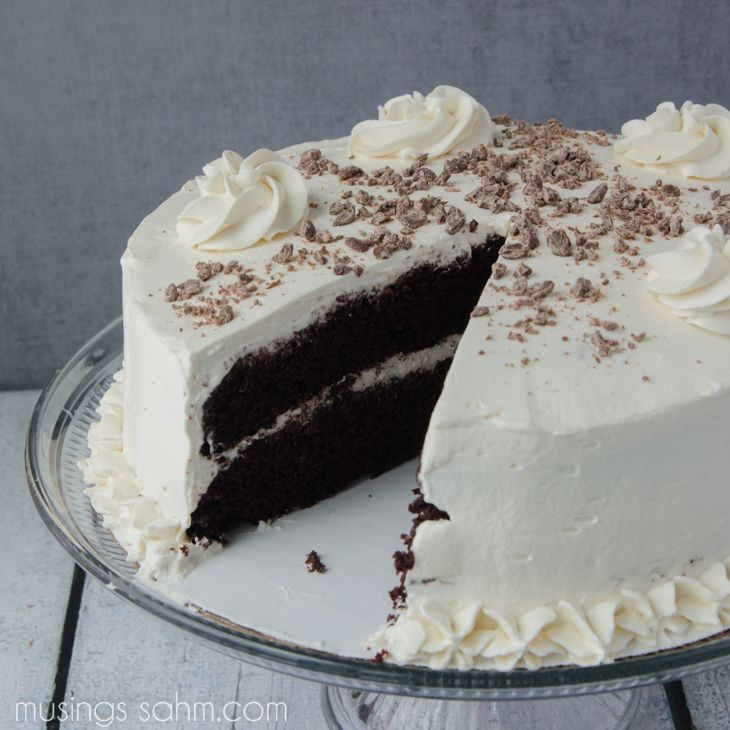 The Best Irish Cream Cake with Real Whipped Cream & Bailey's