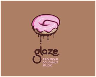Pastry logo design: Glaze. A boutique doughnut studio