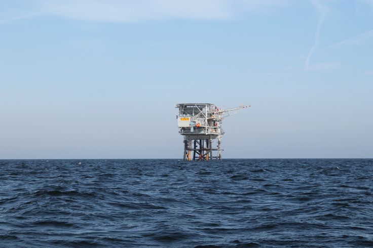 Oil rigs in the North Sea