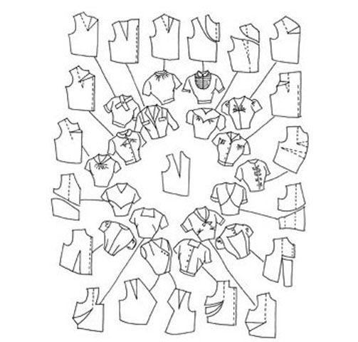 Моделирование одежды: Чертеж «Перенос вытачек» | Центр конструирования и дизайна одежды Галия