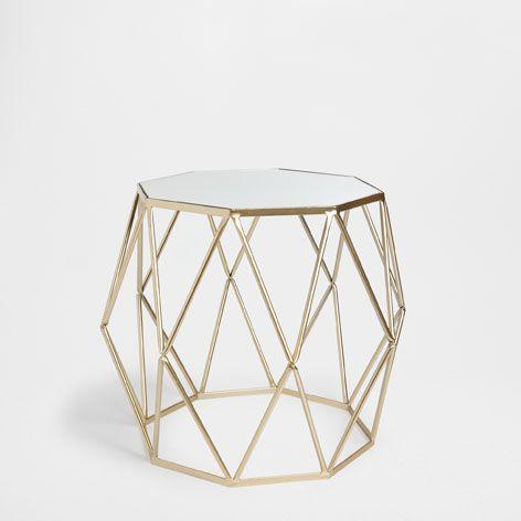 TABLE OCTOGONALE DORÉE - Tabourets & Meubles d'Appoint - Décoration | Zara Home France